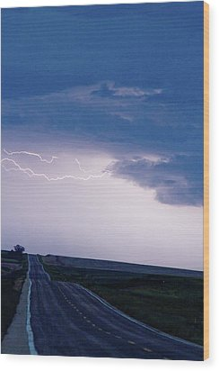 The Long Road Into The Storm Wood Print by James BO  Insogna
