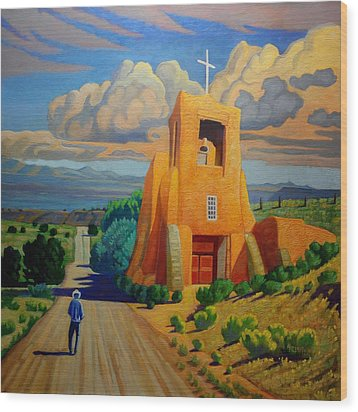 The Long Road To Santa Fe Wood Print by Art West