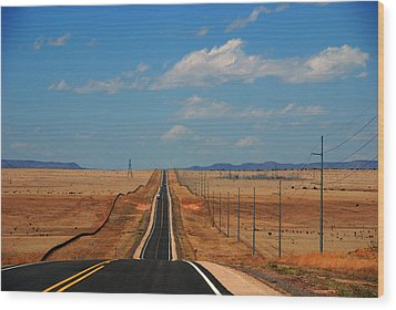 The Long Road To Santa Fe Wood Print by Susanne Van Hulst