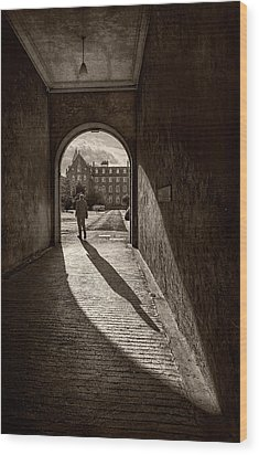 The Long Shadow Wood Print