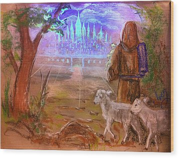 Wood Print featuring the painting The Lord Is My Shepherd by Mike Ivey