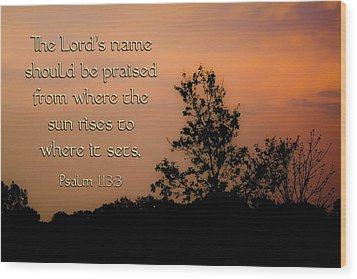 The Lord's Name Wood Print