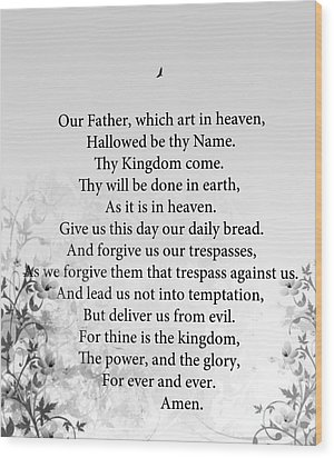 The Lord's Prayer Wood Print