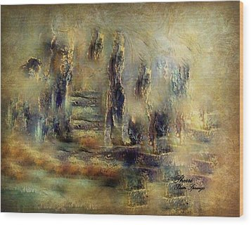 Wood Print featuring the painting The Lost City By Sherriofpalmsprings by Sherri  Of Palm Springs