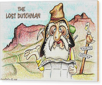 The Lost Dutchman Wood Print