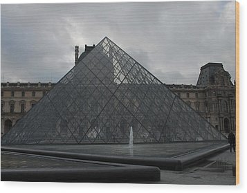 Wood Print featuring the photograph The Louvre And I.m. Pei by Christopher Kirby