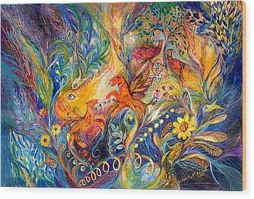 The Love Dance Wood Print by Elena Kotliarker