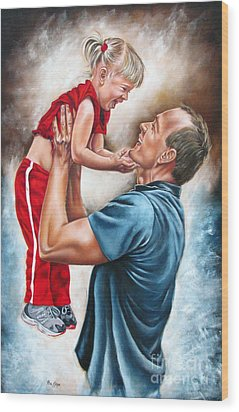 The Love Of The Father Wood Print by Ilse Kleyn
