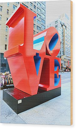 The Love Sculpture Wood Print by Paul Ward