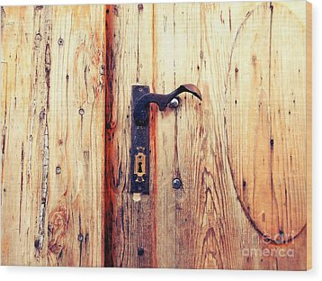 The Lovely Door Handle Wood Print