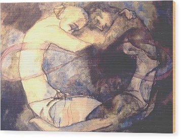 The Lovers Wood Print by Erika Brown