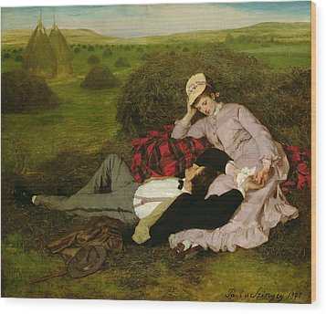 The Lovers Wood Print by Pal Szinyei Merse