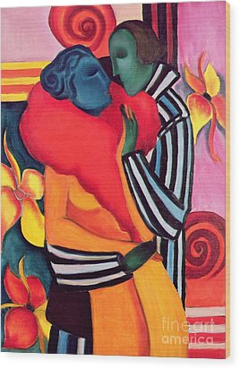 The Lovers Wood Print by Sabina Nedelcheva Williams