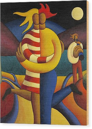 The Lovers Seranade Wood Print by Alan Kenny