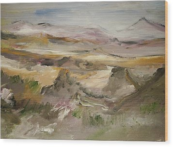 The Lower Mountain Range Wood Print by Edward Wolverton