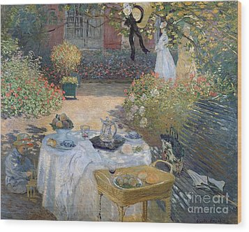 The Luncheon Wood Print by Claude Monet