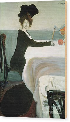 The Luncheon Wood Print by Leon Bakst