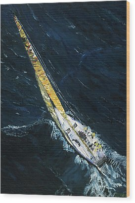 The Mac. Chicago To Mackinac Sailboat Race. Wood Print by Gregory Allen Page