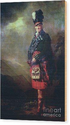 The Macnab Wood Print by Sir Henry Raeburn