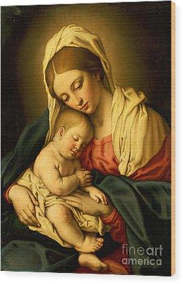 The Madonna And Child Wood Print by Il Sassoferrato