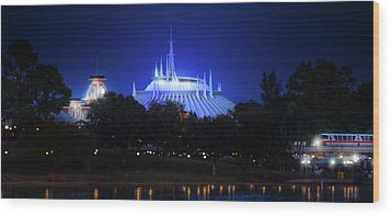 Wood Print featuring the photograph The Magic Kingdom Entrance by Mark Andrew Thomas