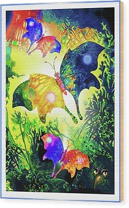 The Magic Of Butterflies Wood Print