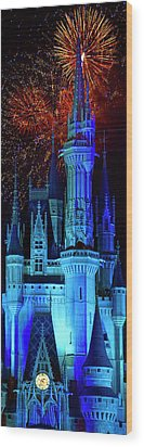 The Magic Of Disney Wood Print by Mark Andrew Thomas
