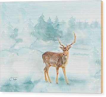 Wood Print featuring the painting The Magic Of Winter  by Colleen Taylor
