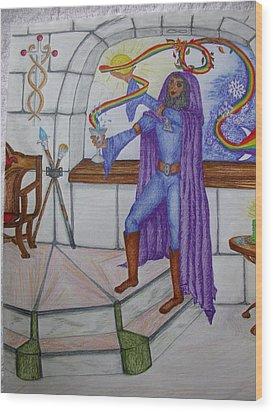 The Magician Wood Print by Carol Frances Arthur