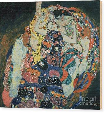 The Maiden Wood Print by Gustav Klimt