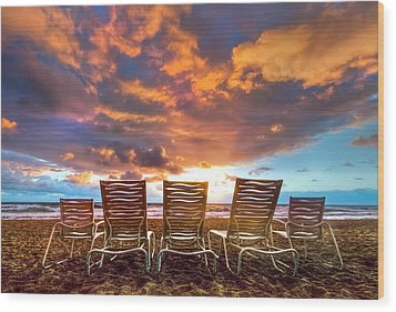 The Main Event Wood Print by Debra and Dave Vanderlaan