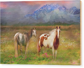 The Majestic Pasture Wood Print