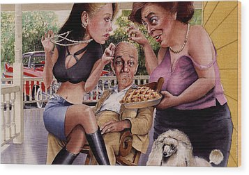 The Man And His Sweethearts Wood Print by Denny Bond