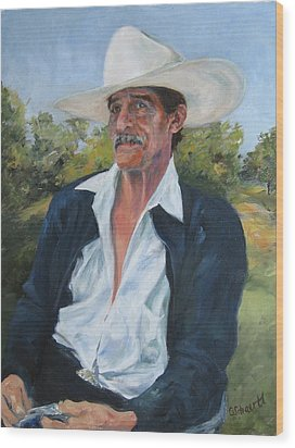 The Man From The Valley Wood Print