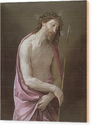 The Man Of Sorrows Wood Print by Guido Reni