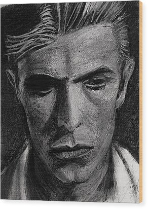 Wood Print featuring the painting The Man Who Fell To Earth 1976 by Jarko Aka Lui Grande