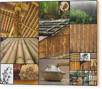 The Many Faces Of Bamboo Wood Print by Yali Shi