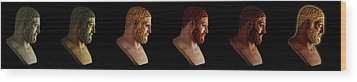Wood Print featuring the mixed media The Many Faces Of Hercules by Shawn Dall