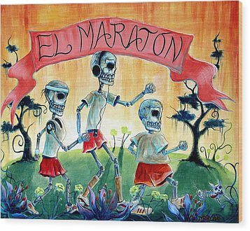 The Marathon Wood Print