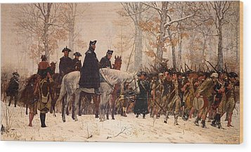 The March To Valley Forge Wood Print by Mountain Dreams