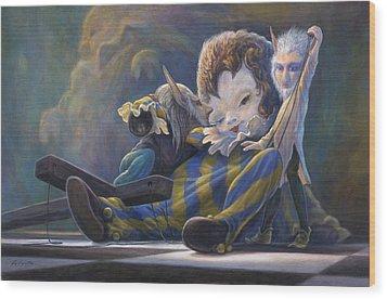 The Marionette Wood Print by Leonard Filgate