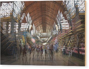 Wood Print featuring the photograph The Market Hall by Alex Lapidus