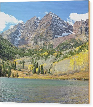 The Maroon Bells 2 Wood Print by Eric Glaser