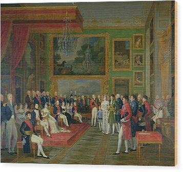 The Marriage Of Eugene De Beauharnais Wood Print by Francois Guillaume Menageot
