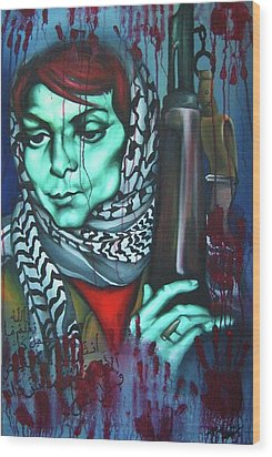 The Marriage Of Leila Khaled Wood Print by Khalid Hussein
