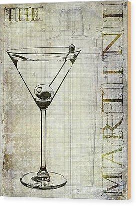 The Martini Wood Print by Jon Neidert