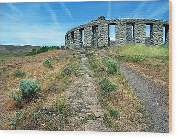 The Maryhill Stonehenge Wood Print by Joanne Coyle