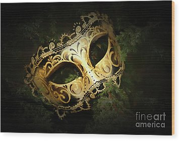 Wood Print featuring the photograph The Mask by Darren Fisher