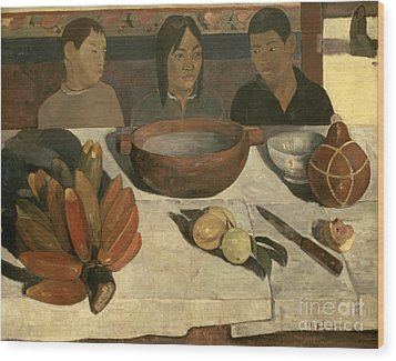 The Meal Wood Print by Paul Gauguin