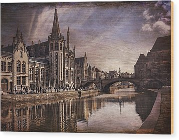 The Medieval Old Town Of Ghent  Wood Print